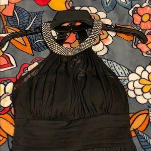 Black Speechless dress with diamond collar 🖤